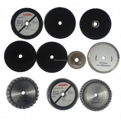Zestaw nasadek / tarcz do urzadzenia wielofunkcyjnego rotorajzer