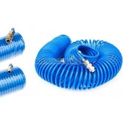 Wąż spiralny ze szybkozłączkami 15 m